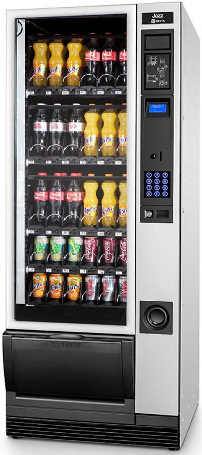necta jazz can and bottle vending machine